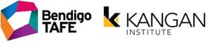 Bendigo TAFE logo, Kangan Institute logo